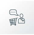 shopping assistant icon line symbol premium vector image