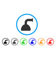shower head rounded icon vector image vector image