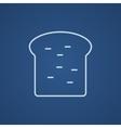 Single slice of bread line icon vector image vector image