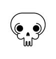 skull linear style head skeleton vector image vector image