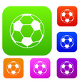 soccer ball set color collection vector image vector image