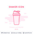 sport shaker icon isolated on white vector image vector image