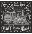 steam train logo design template vector image vector image