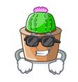 super cool cartoon star cactus plants at cactus vector image vector image