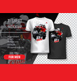 t-shirt template fully editable with off-road vector image