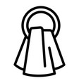towel round hanger icon outline style vector image vector image