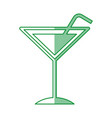 tropical cocktail cup with straw vector image vector image