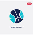 two color basketball ball icon from hobbies and vector image