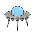 ufo flying saucer technology science transport vector image vector image