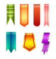 vertical banners realistic style collection vector image vector image