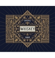 Vintage shield for whiskey packing vector image vector image