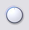 Volume Control Dial White Button vector image vector image