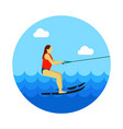 water skiing icon summer vacation vector image
