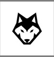 wolf head icon logo vector image