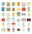 Big Flat Back to School Objects Set isolated over vector image