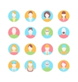 male and female faces avatars flat icons vector image