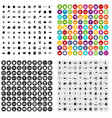 100 natural products icons set variant vector image vector image