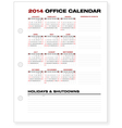 2014 clean corporate office calendar vector | Price: 1 Credit (USD $1)