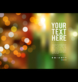 Abstract bokeh background at night new year vector image vector image