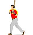 al 0947 baseball 01 vector image vector image