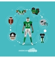 American football player with equipment Sport vector image vector image