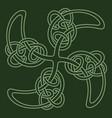 ancient celtic design celtic scandinavian vector image vector image