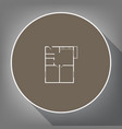 apartment house floor plans white icon on vector image vector image