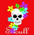 artistic skull poster vector image vector image