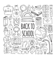 Back to school big doodles set vector image