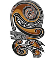 Borneo tattoo pattern vector image vector image