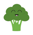 broccoli icon green color vegetable collection vector image