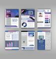 brochure template set vector image