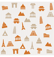 Building seamless pattern vector image vector image