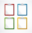 check list icon set vector image vector image