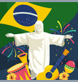 christ redeemer with traditional instruments and vector image vector image