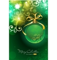 christmas background with bauble vector image vector image