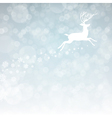 christmas deer with snowflakes vector image