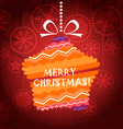Christmas greeting card with ornamented star vector image vector image