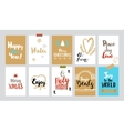 Christmas tags with sketches and greetings vector image