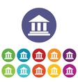 Classical building icon set vector image vector image