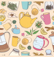 colorful seamless pattern with hand drawn tools vector image vector image