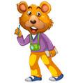cute bear cameraman character vector image vector image