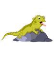 cute chameleon cartoon vector image