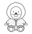 cute lion childish character vector image vector image