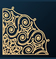 decorative corner ornament design element vector image