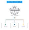 design goal pencil set target business flow chart vector image