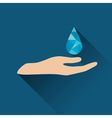Drop over hand icon vector image