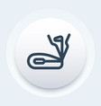 elliptical trainer icon in linear style vector image vector image
