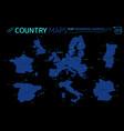 europe united kingdom france spain italy vector image