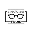 eyeglasses in look word vector image vector image